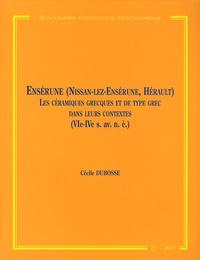 Cécile Dubosse - Ensérune (Nissan-lez-Ensérune, Hérault) - Les céramiques grecques et de type grec dans leurs contextes (VIe-IVe siècle avant notre ère).