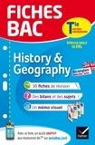 Cécile Gaillard - Fiches bac History & Geography Tle section européenne - fiches de révision Terminale section européenne.