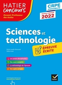 Cécile Laruelle-Detroussel et Hélène Lesot - Sciences et technologie - Epreuve écrite d'application CRPE.