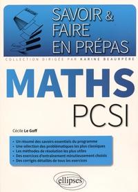 Cécile Le Goff - Maths PCSI.