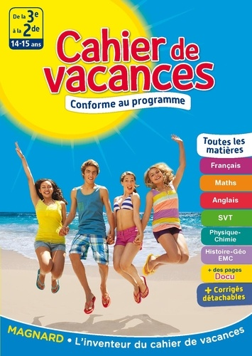 Cahier De Vacances De La 3e A La 2de 14 15 Ans Grand Format