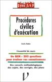 Cécile Robin - Procédures civiles d'éxécution.