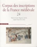 Cécile Treffort - Corpus des inscriptions de la France médiévale - Volume 24, Maine-et-Loire, Mayenne, Sarthe (région Pays de la Loire).