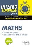 Cédric Bertone - Mathématiques cycle 4 - Tout le cours en 128 questions/réponses et 400 exercices chronométrés et corrigés.