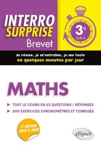 Cédric Bertone - Maths 3e Cycle 4 Brevet - Tout le cours en 63 questions/réponses et 200 exercices chronométrés et corrigés.