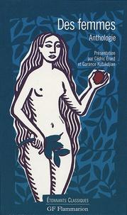 Cédric Erard et Garance Kutukdjian - Des femmes - Anthologie.