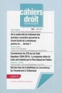 Cédric Nédélec et Thomas Gergen - De la conformité du traitement des données à caractère personnel au Grand-Duché de Luxembourg : parlons-en... demain ?.