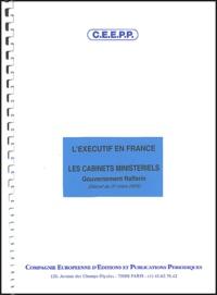 CEEPP - L'Exécutif en France - Les cabinets ministériels, Gouvernement Raffarin (Décret du 31 mars 2004).