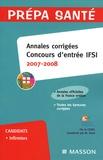CEFIEC et Mireille Tenet - Annales corrigées Concours d'entrée IFSI.