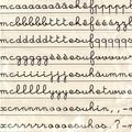 Celda et  Asco - Atelier de lettres minuscules cursives.