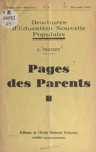 Célestin Freinet - Pages des parents.