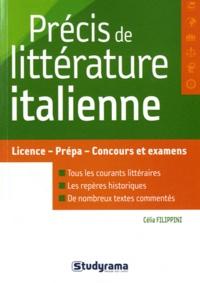 Précis de littérature italienne - Célia Filippini | Showmesound.org