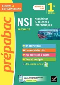 Céline Adobet et Guillaume Connan - Numérique et sciences informatiques 1re (spécialité) - Prépabac Cours & entraînement.