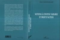 Céline Castets-Renard - Notions à contenu variablre et droit d'auteur.