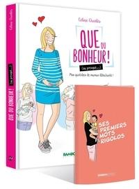 Céline Charlès - Que du bonheur ! (ou presque...) Tome 1 : Ma quotidien de maman débutante ! - Avec 1 carnet Ses premiers mots rigolos.