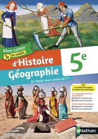 Céline Dhers et Caroline Normand - Histoire Géographie 5e Mon cahier bi-média d'Histoire Géographie.