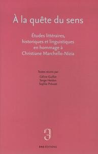 Céline Guillot et Serge Heiden - A la quête du sens - Etudes littéraires, historiques et linguistiques en hommage à Christiane Marchello-Nizia.