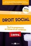 Céline Leborgne-Ingelaere et Emmanuelle Clément - Cours de droit social - Tout le programme en 80 fiches et en schémas.
