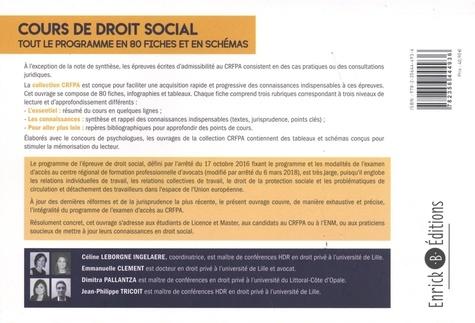 Cours de droit social. Tout le programme en 80 fiches et en schémas  Edition 2021
