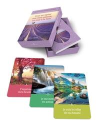 Céline Legault - Pour accepter ma vraie nature, un jour à la fois - Jeu de 44 cartes avec livret d'accompagnement.