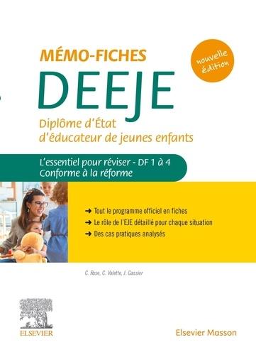 Mémo-fiches DEEJE - Diplôme d'Etat d'éducateur de jeunes enfants. L'essentiel pour réviser - DF1 à 4. Conforme à la réforme