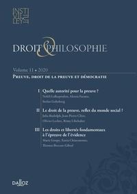 Céline Roynier et Mathilde Unger - Droit & Philosophie N° 11/2020 : Preuve, droit de la preuve et démocratie.