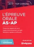 Céline Wistuba - L'épreuve oral AS-AP.