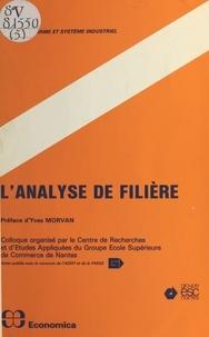 Centre de recherche et d'étude et  Association pour le développem - L'analyse de filière.