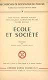 Centre national de la recherch et Jean Floud - École et Société.