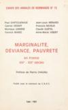 Centre national de la recherch et Paul Dartiguenave - Marginalité, déviance, pauvreté - En France, XIVe-XIXe siècles.