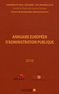 Centre recherches admin - Annuaire européen d'administration publique - Tome 33, Les problèmes de l'eau en Europe.