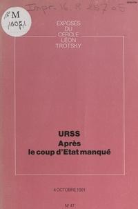 Cercle Léon Trotsky - URSS, après le coup d'État manqué - Exposé du Cercle Léon Trotsky du 4 octobre 1991.