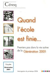 CEREQ - Quand l'école est finie... - Premiers pas dans la vie active de la Génération 2001.