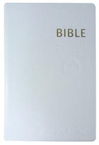 Cerf - La Bible TOB - Traduction oecuménique avec introductions, notes essentielles, glossaire, reliure semi-rigide, couverture similicuir blanc, tranches or.