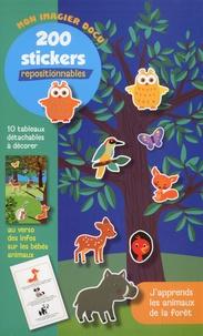 Cerf-Volant - J'apprends les animaux de la forêt - 200 stickers repositionnables.
