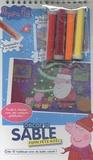 Cerf-Volant - Peppa fête Noël - Crée 10 tableaux avec du sable coloré.