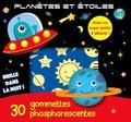 Cerf-Volant - Planètes et étoiles - 30 gommettes phosphorescentes.