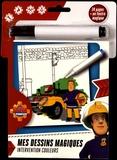 Cerf-Volant - Sam le Pompier Intervention couleurs - Avec un feutre magique.