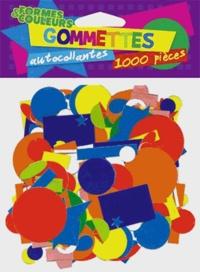 Cerise bleue - Gommettes formes et couleurs - 1000 pièces.
