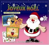 Cerise bleue - Joyeux Noël - Bloc à dessin récréatif.