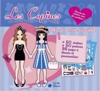 Cerise bleue - Les copines Sophie et Louna font du shopping - Bloc à dessin récréatif.