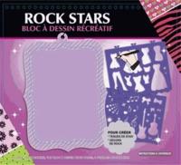 Cerise bleue - Rock stars - Bloc à dessin récréatif.