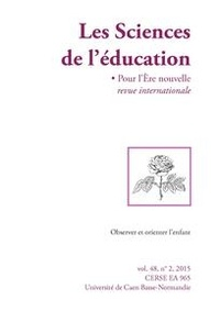 Laurent Gutierrez - Les Sciences de l'éducation - Pour l'Ere nouvelle Volume 48 N° 2, 2015 : .