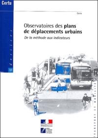 Observatoires des plans de déplacements urbains. De la méthode aux indicateurs, avec CD-ROM.pdf