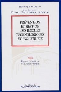 CES - Prévention et gestion des risques technologiques et industriels.