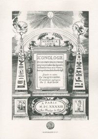 Cesare Ripa - Iconologie - Où les principales choses qui peuvent tomber dans la pensée touchant les vices et les vertus sont representées sous diverses figures.