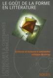 David Bellos et Marc Lapprand - Formules N° 9 : Le goût de la forme en littérature.