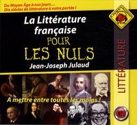 Jean-Joseph Julaud - La littérature française pour les Nuls. 3 CD audio MP3