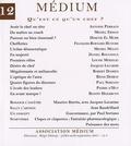 Régis Debray et  Collectif - Médium N° 12 : Qu'est-ce qu'un chef ?.