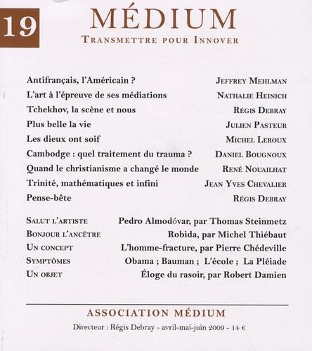 Jeffrey Mehlman et Nathalie Heinich - Médium N° 19, Avril-mai-jui : .